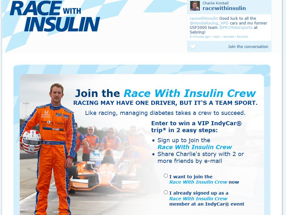 Race with Insulin Sweepstakes