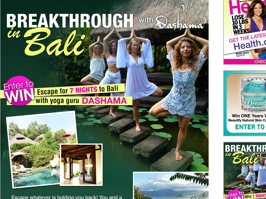 Spa Week Media Group Breakthrough in Bali with Dashama Giveaway