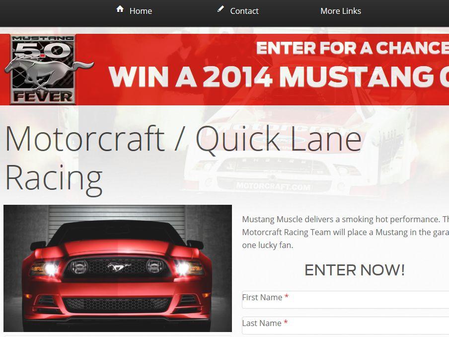 Motorcraft / Quick Lane Mustang 5.0 Fever Sweepstakes