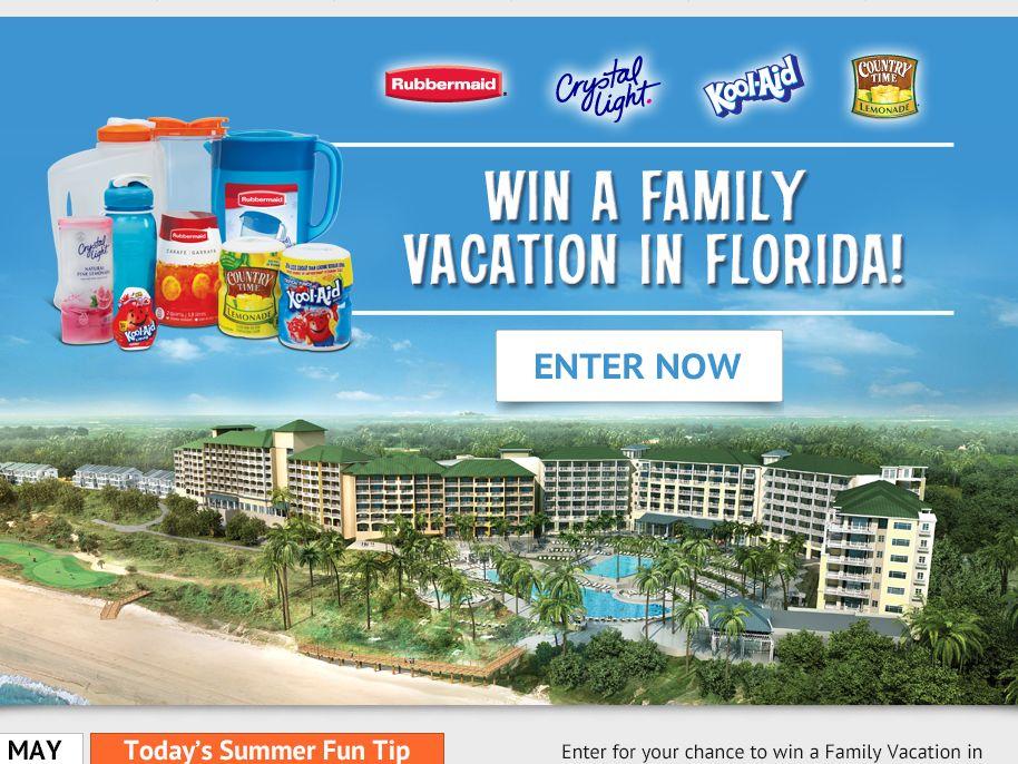 Rubbermaid Florida Family Sweepstakes
