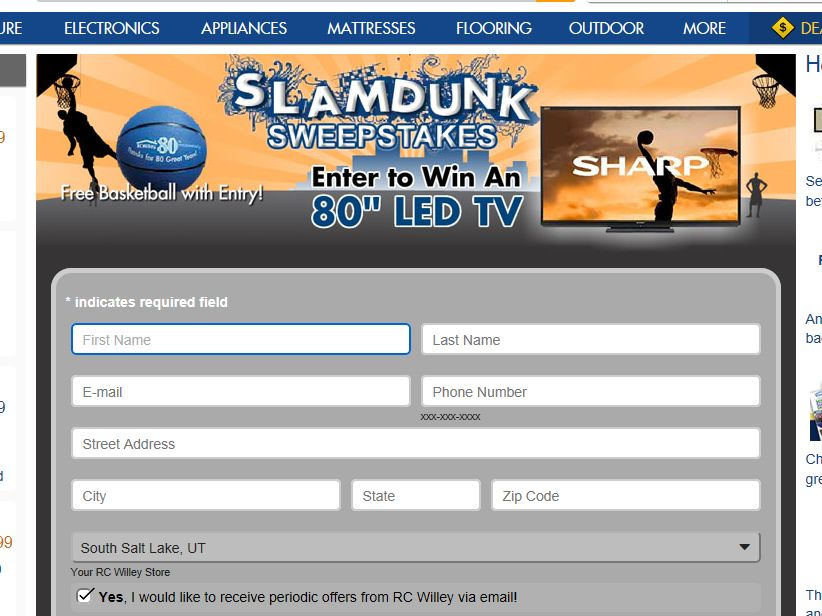 Sharp Slamdunk Sweepstakes