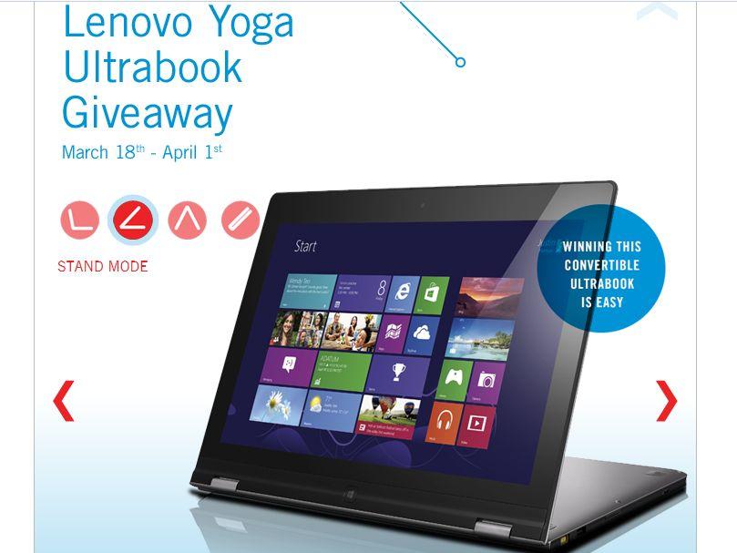 Staples Lenovo Yoga Ultrabook Giveaway