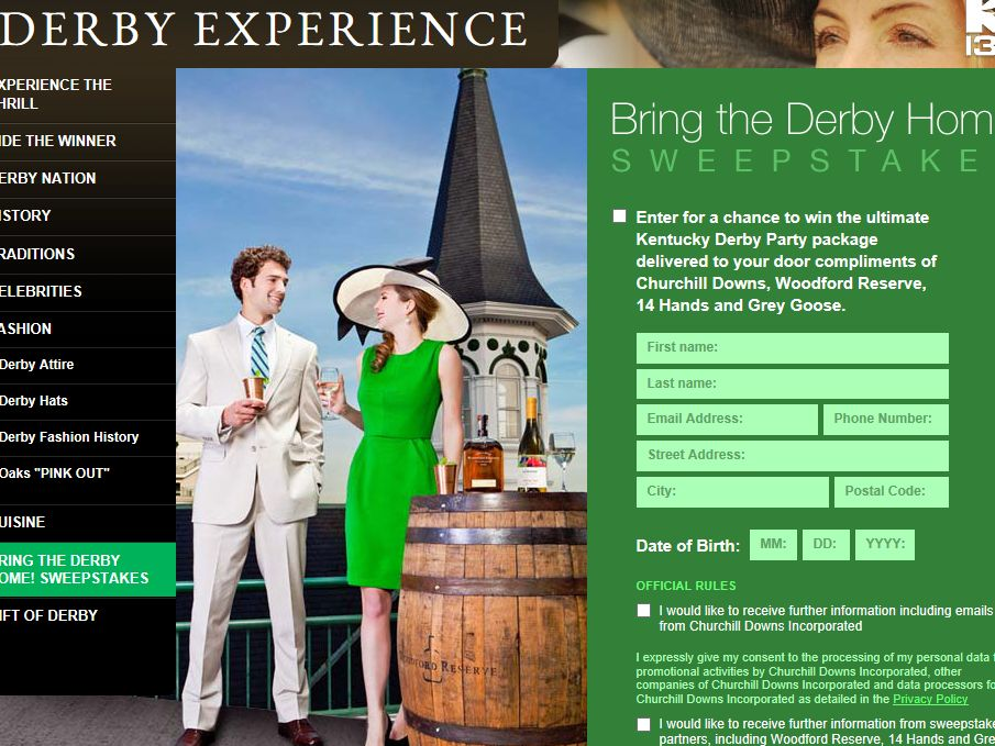Bring the Derby Home! Sweepstakes