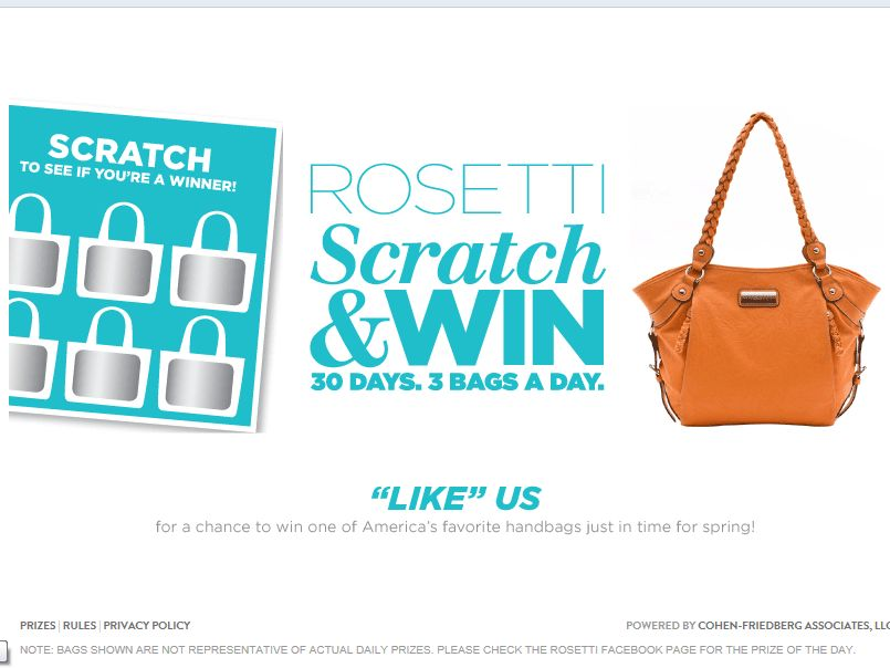 Rosetti Scratch & Win Game and Sweepstakes
