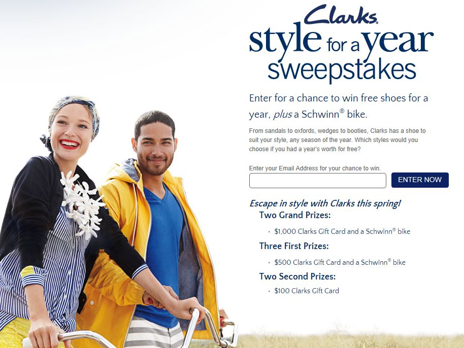 Clarks Style for a Year Sweepstakes