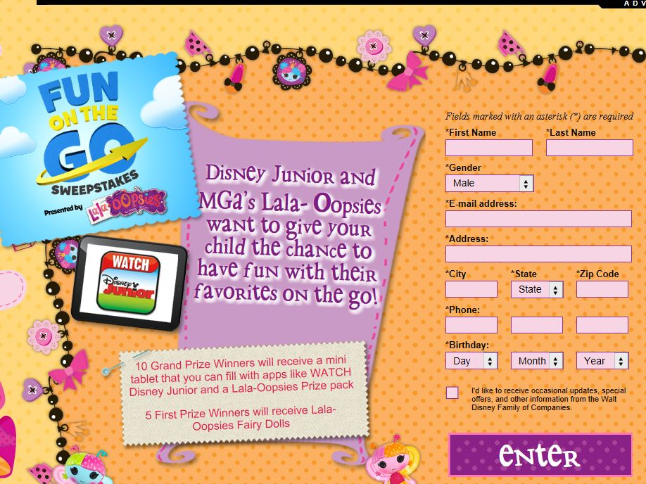 Disney Junior Fun on the Go Sweepstakes