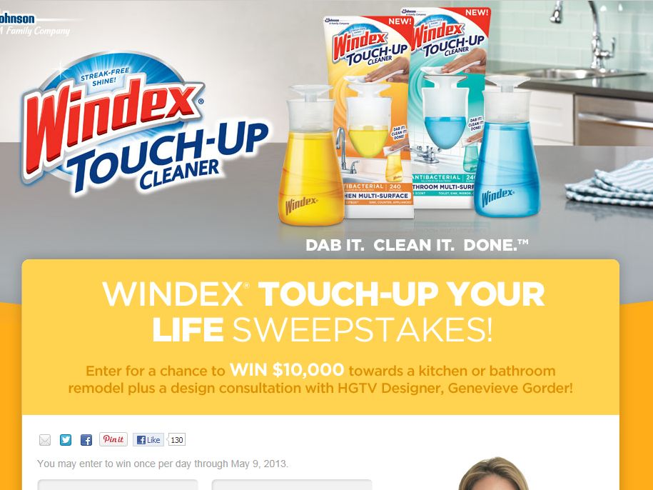 Windex Touch-Up Your Life Sweepstakes