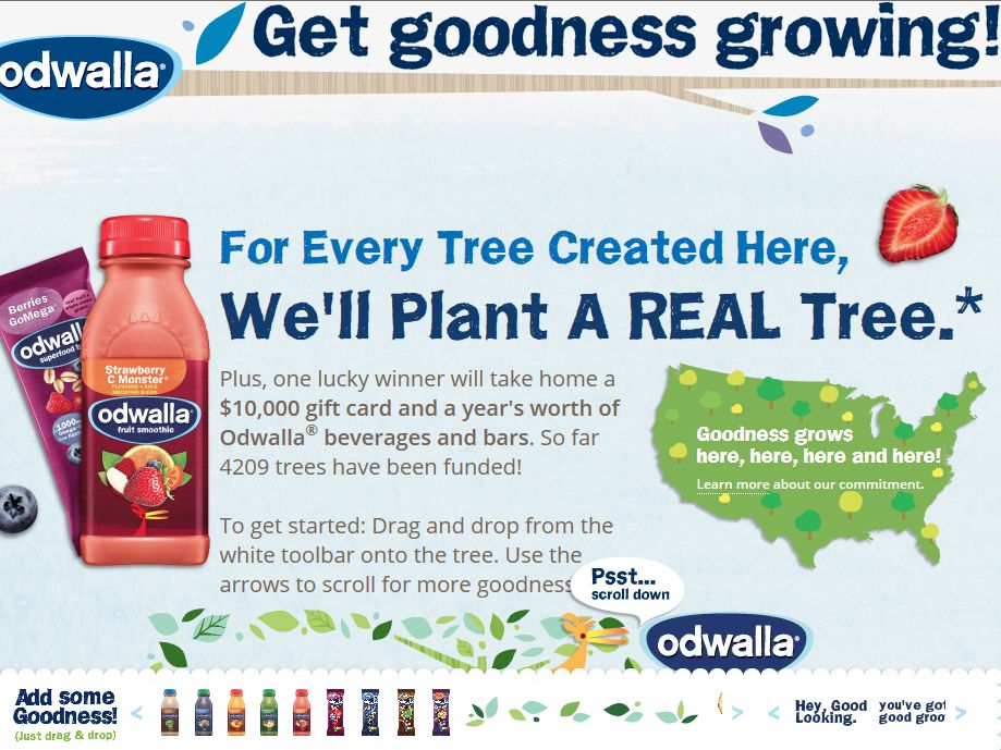 Odwalla Get Goodness Growing Sweepstakes