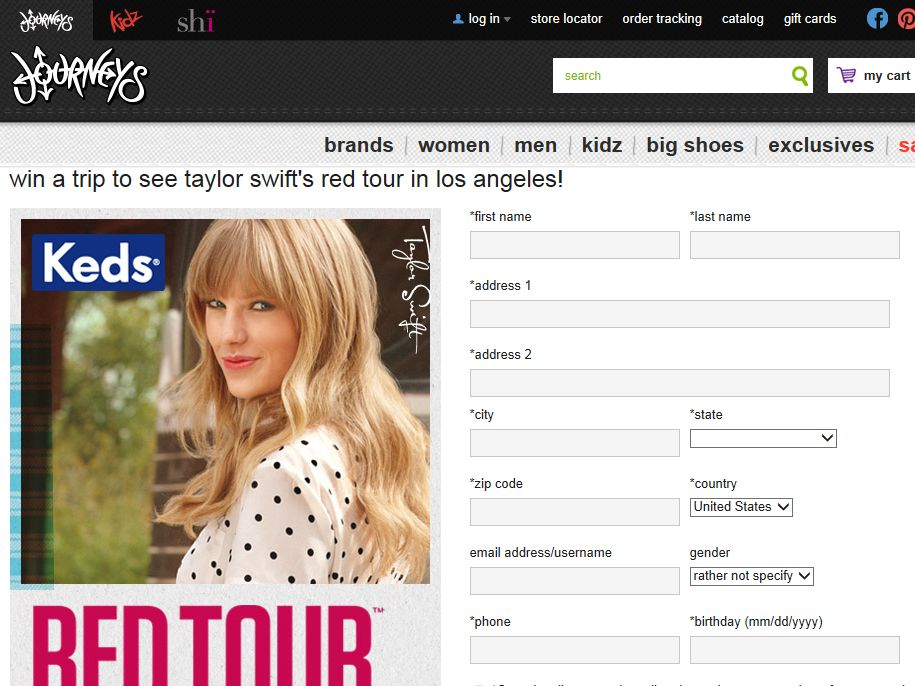 Win a Flyaway Trip for You and 5 Friends to See Taylor Swift on Tour Sweepstakes