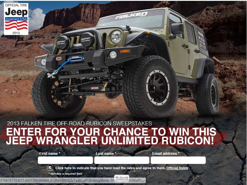 Falken Tire Off-Road Rubicon Sweepstakes