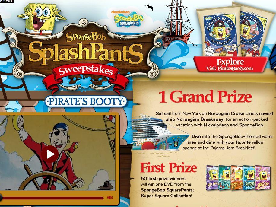 SpongeBob SplashPants Sweepstakes