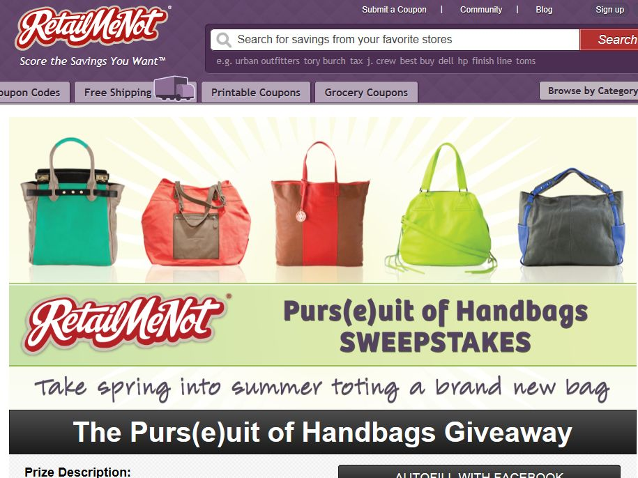 RetailMeNot Purs(e)uit of Handbags Giveaway