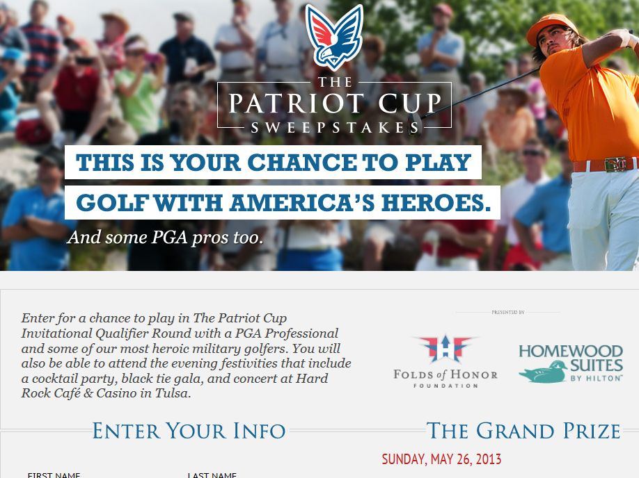 Golf Patriot Cup Sweepstakes