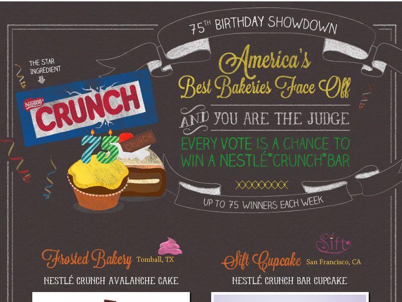 Nestle Crunch 75th Birthday Showdown Sweepstakes