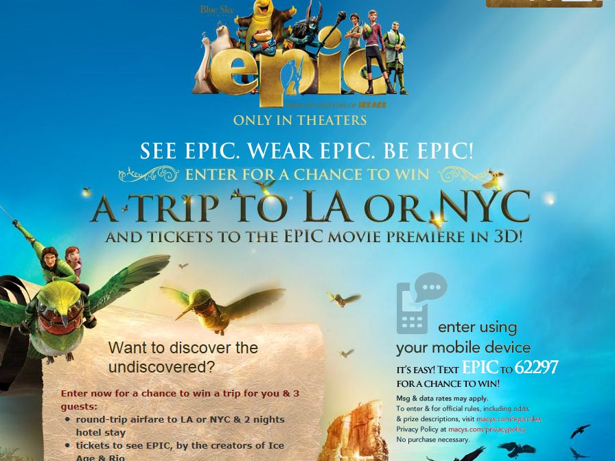 Macy's See Epic. Wear Epic. Be Epic. Sweepstakes
