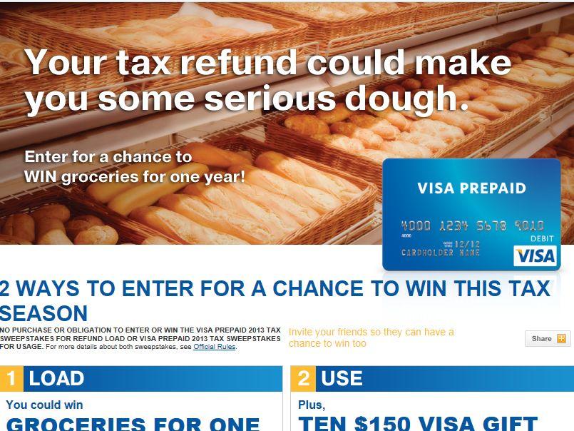 VISA Prepaid 2013 Tax Sweepstakes