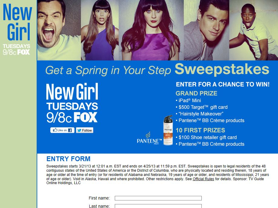 New Girl Get A Spring In Your Step Sweepstakes