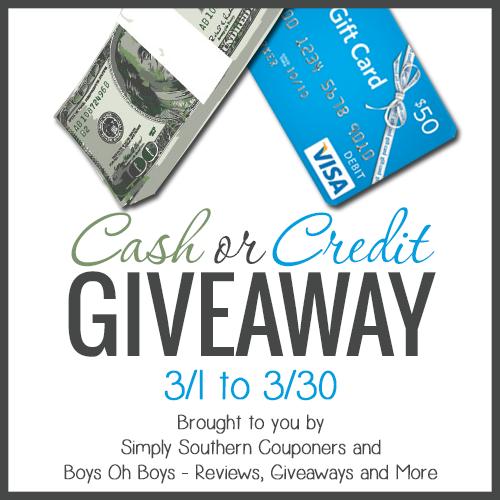 Cash or Credit Giveaway