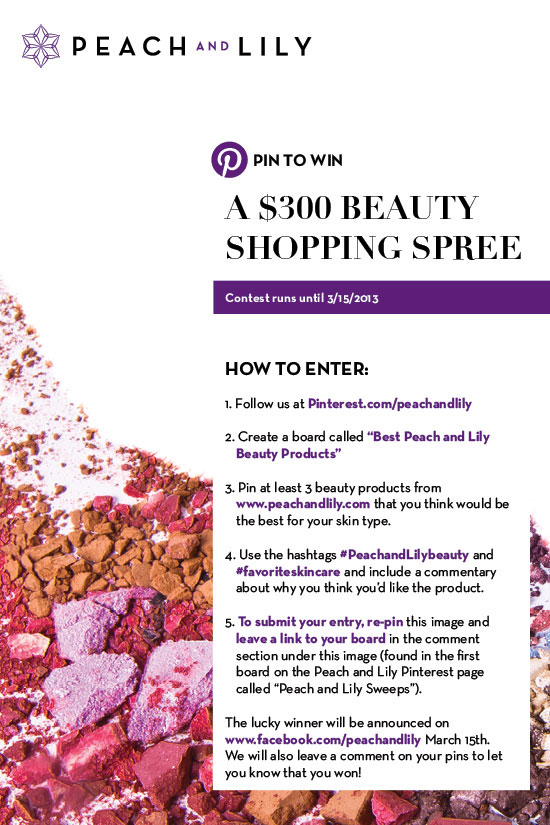 Win $300 beauty shopping spree at Peach and Lily