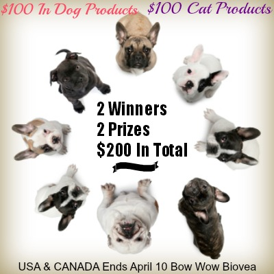Biovea Pet Giveaway, 2 Prizes, 2 Winners, $200 In Total
