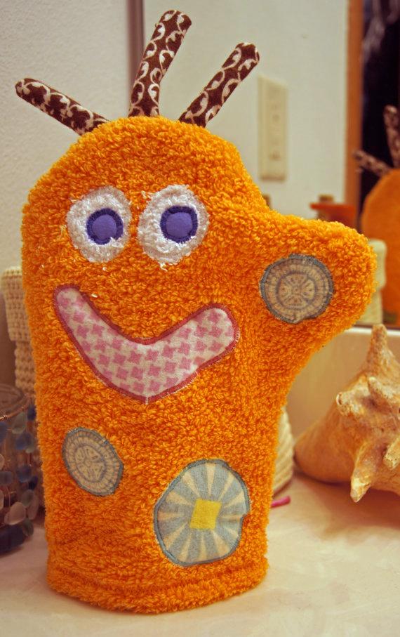 Win an adorable monster bath mitt on Bellafind.com!