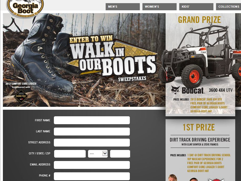 Walk in Our Boots Sweepstakes