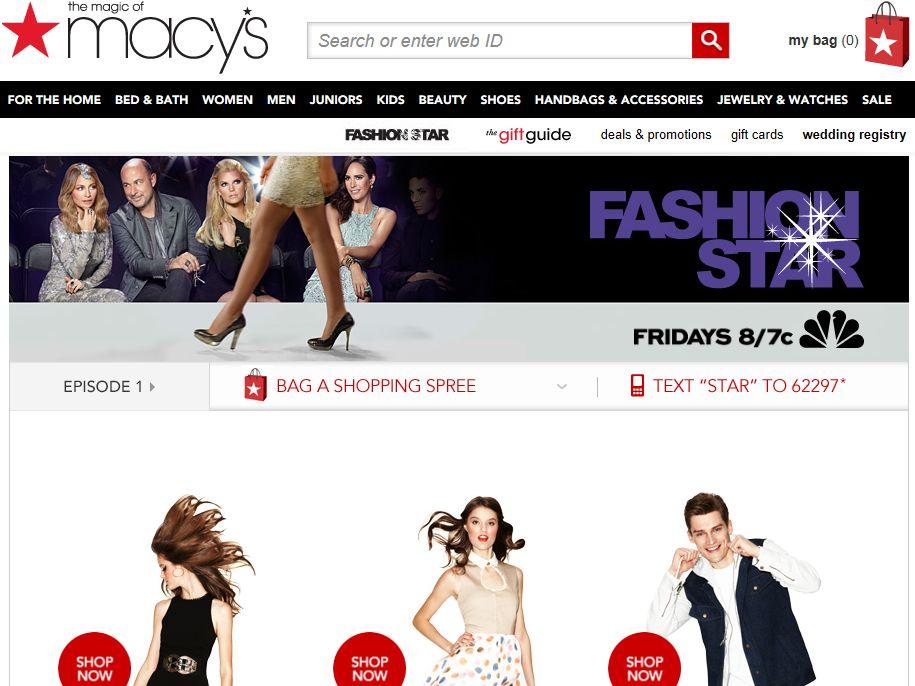 Macy's Fashion Star Shopping Spree Sweepstakes