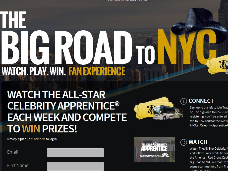 Big Road to NYC Sweepstakes