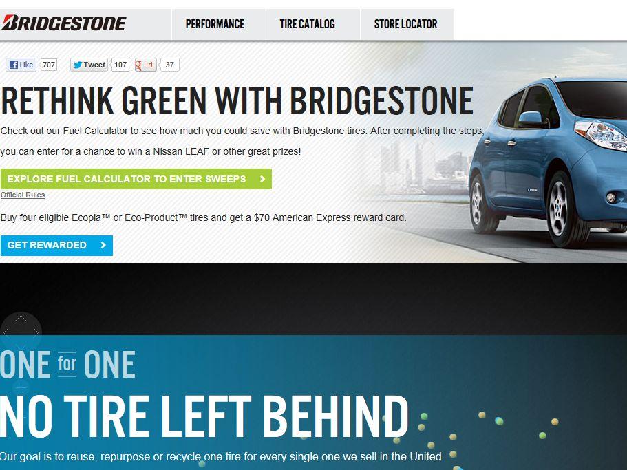 Bridgestone Rethink Green Sweepstakes