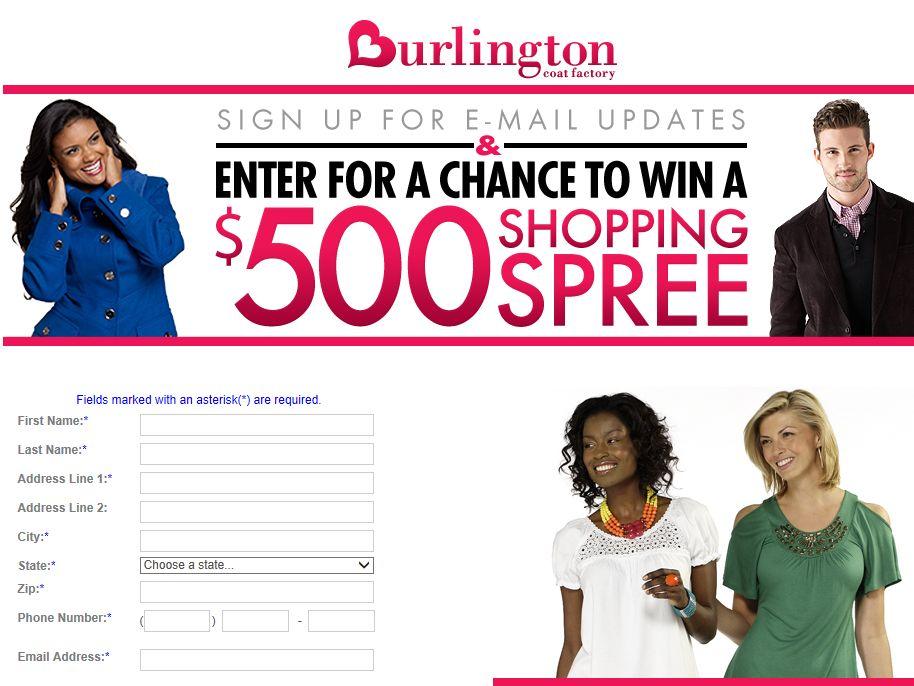 Burlington Coat Factory Shopping Spree Sweepstakes