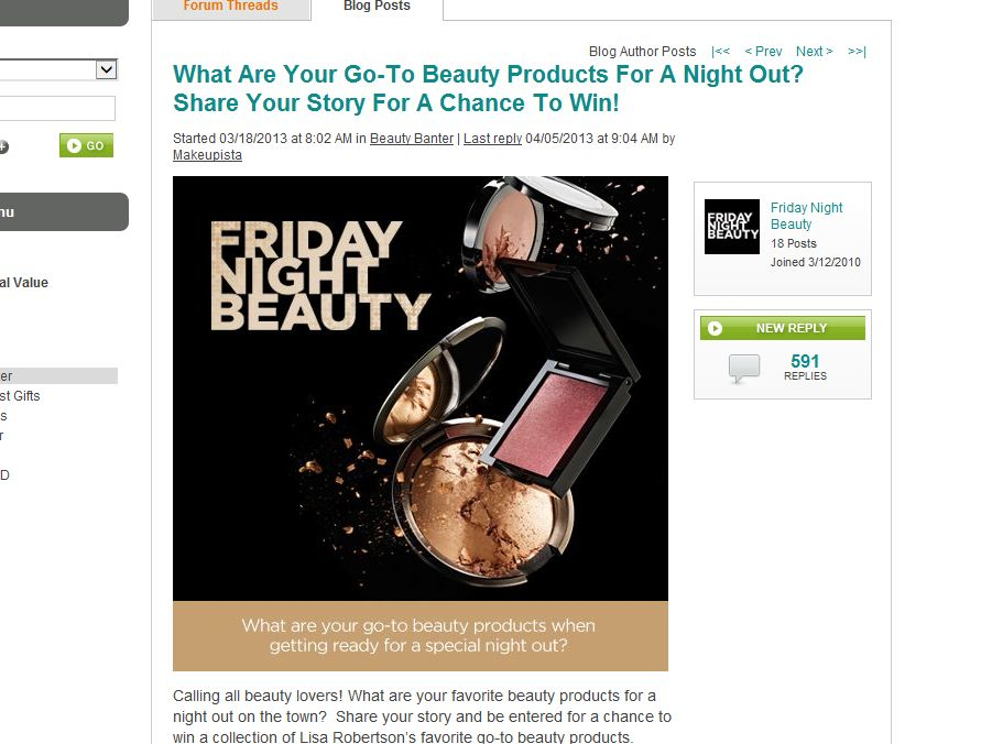 QVC Friday Night Beauty Sweepstakes