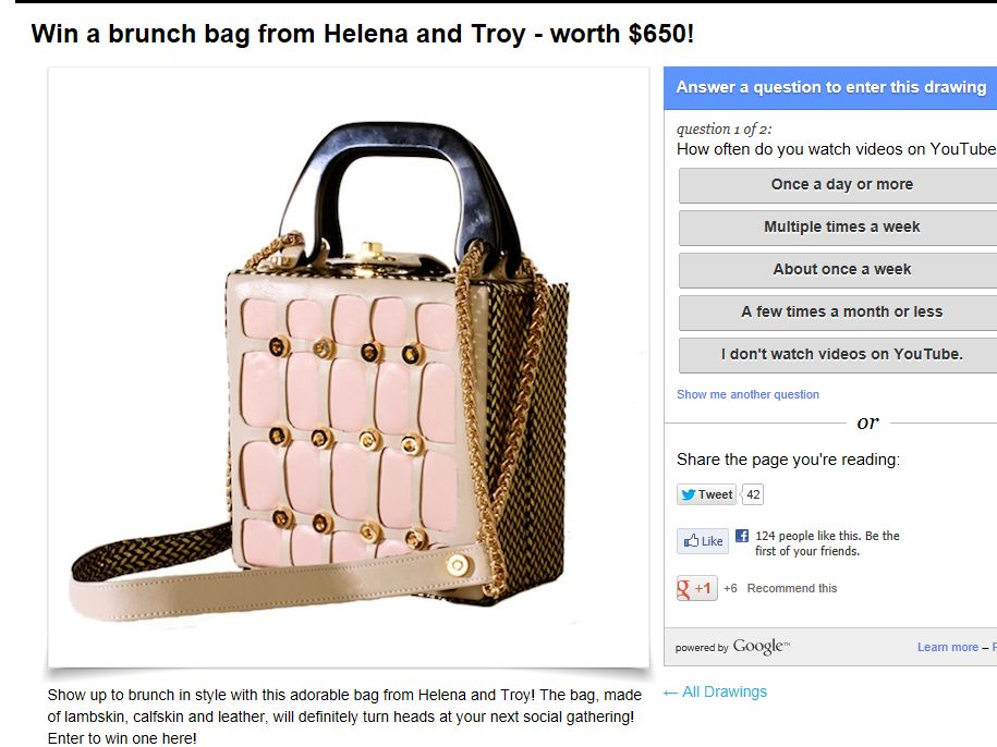 InTouch Win a brunch bag from Helena and Troy Sweepstakes