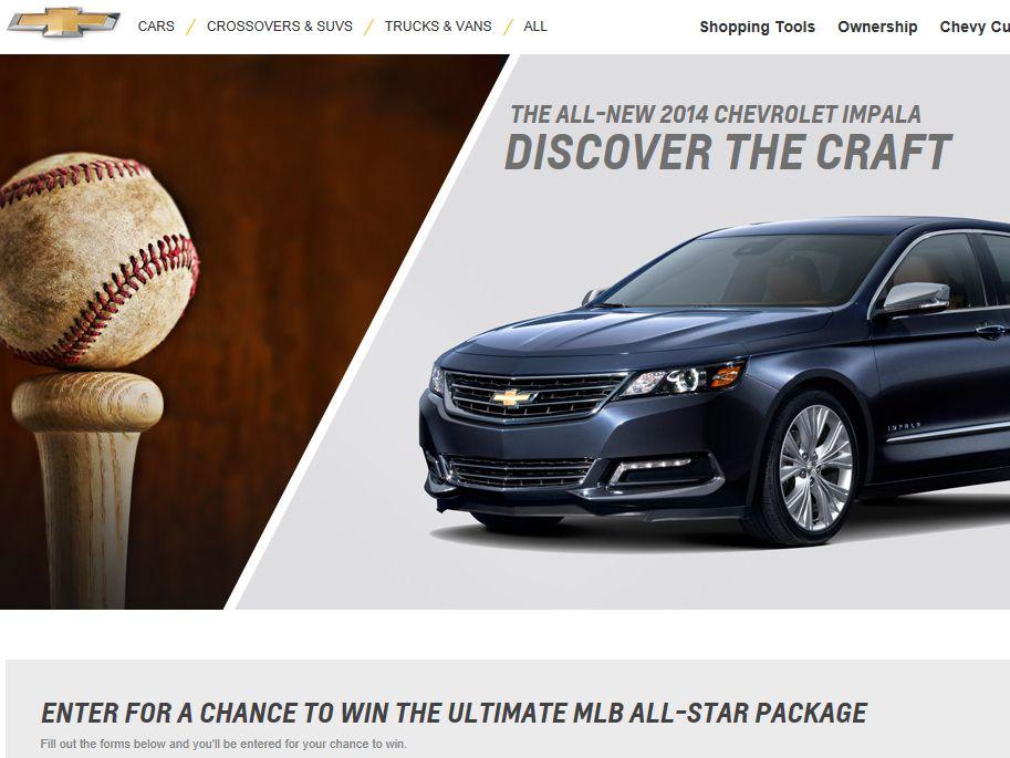 MLB Chevrolet Impala Sweepstakes