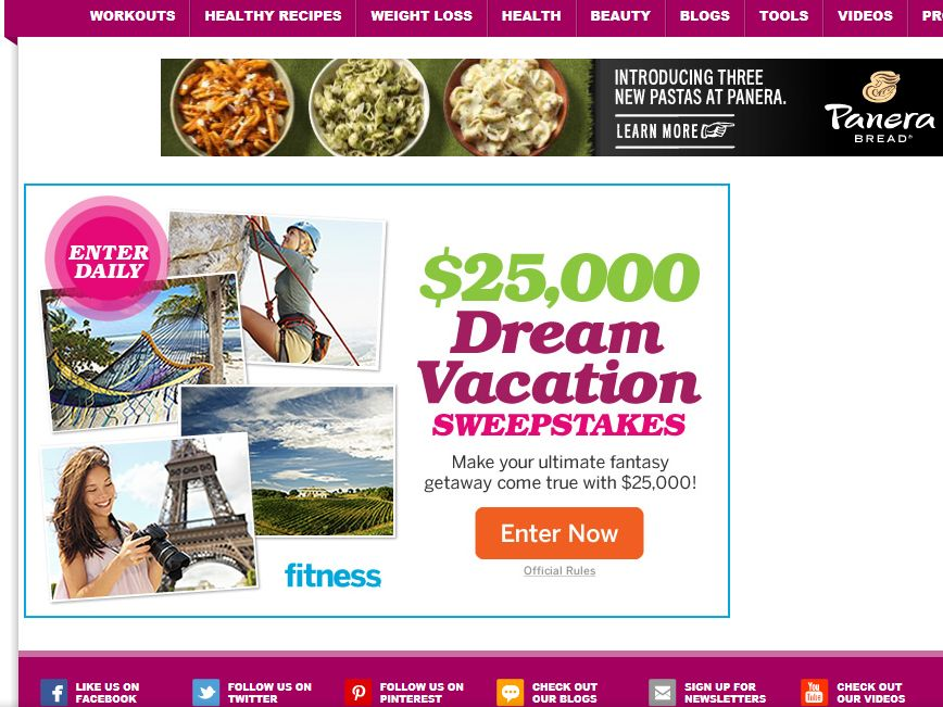 $25,000 Dream Vacation Sweepstakes