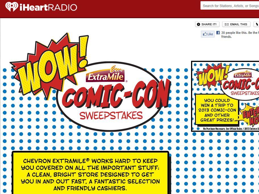 iHeart Radio ExtraMile Comic-Con Sweepstakes