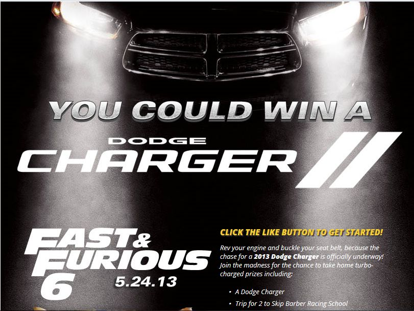 Nestle's Fast & Furious Giveaway