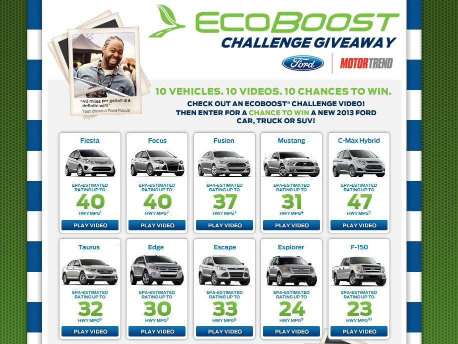 Ford 2013 EcoBoost Challenge Giveaway
