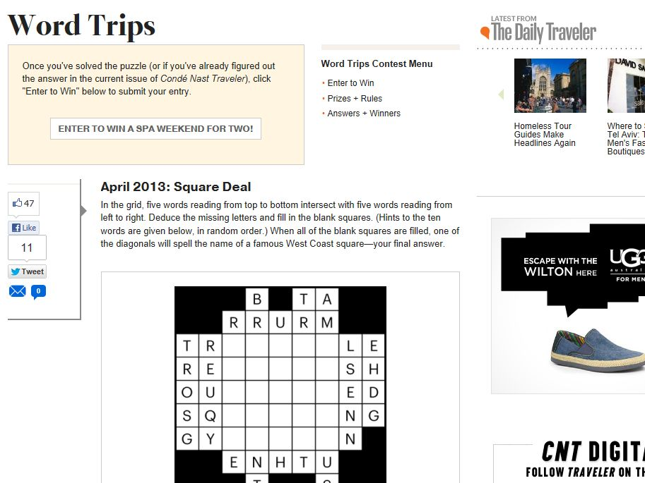 Word Trips Contest