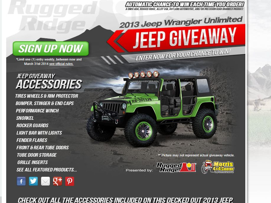 Morris 4X4 Center and Omix-ADA 2013 Jeep Giveaway