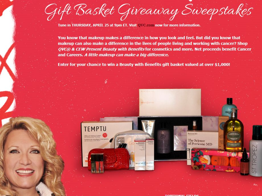 Delilah's QVC Beauty with Benefits Gift Basket Giveaway Sweepstakes