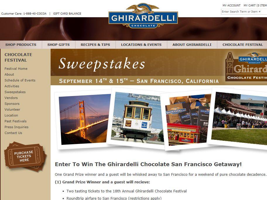 Ghirardelli Chocolate San Francisco Getaway