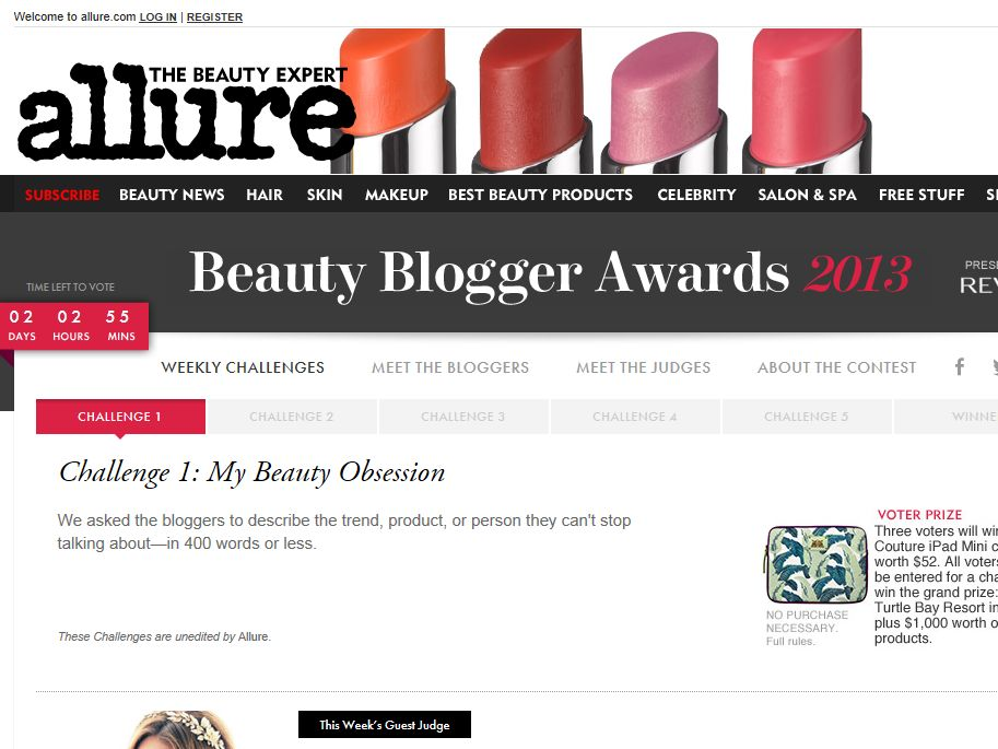 Beauty Blogger Awards 2013 Sweepstakes