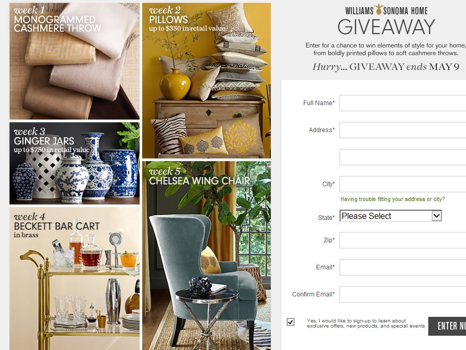 Williams-Sonoma Home Giveaway