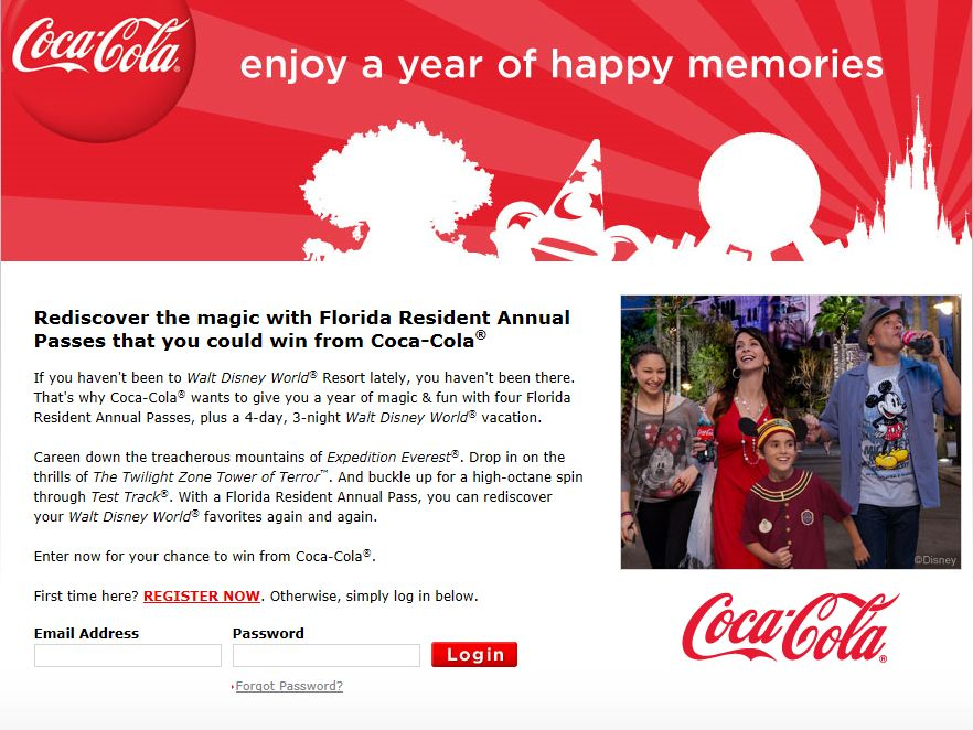 Enjoy a Year of Happy Memories Instant Win & Sweepstakes - Florida Residents Only