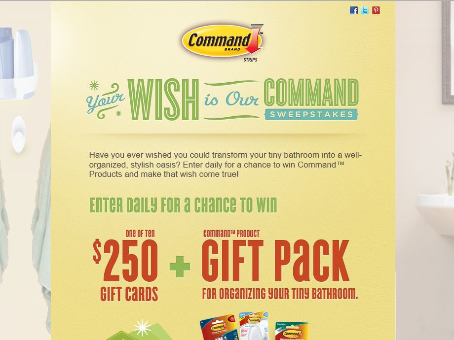 Your Wish is Our Command Sweepstakes