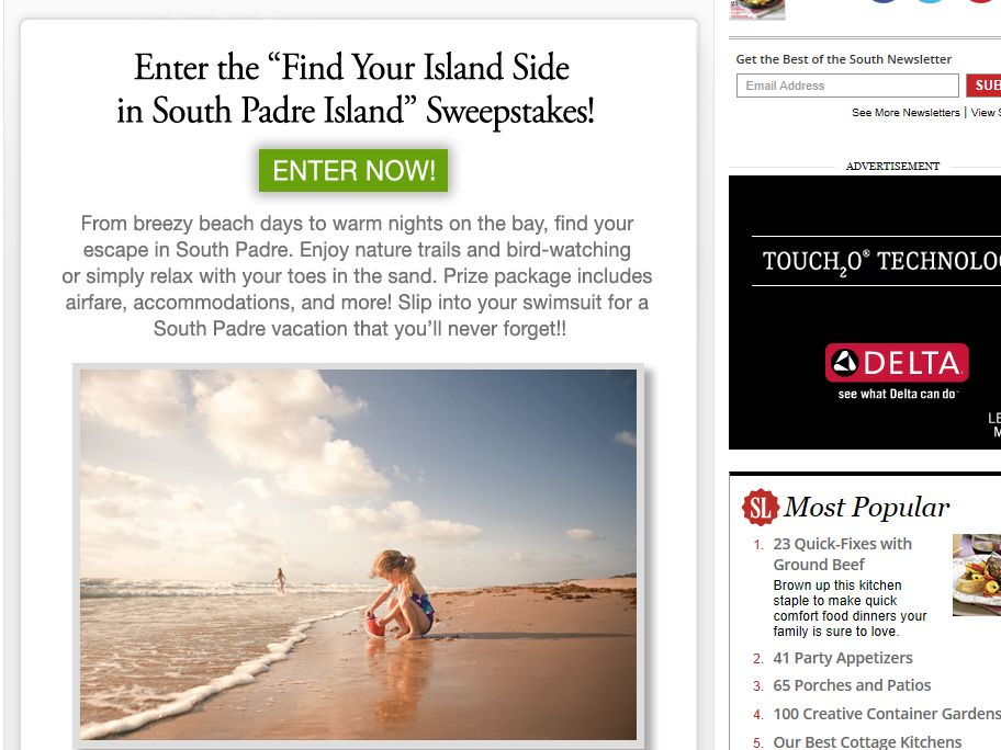 Find Your Island Side in South Padre Island Sweepstakes
