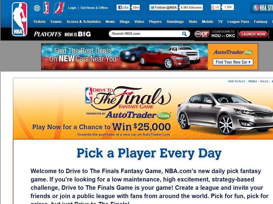 AutoTrader.com Drive to the Finals Sweepstakes