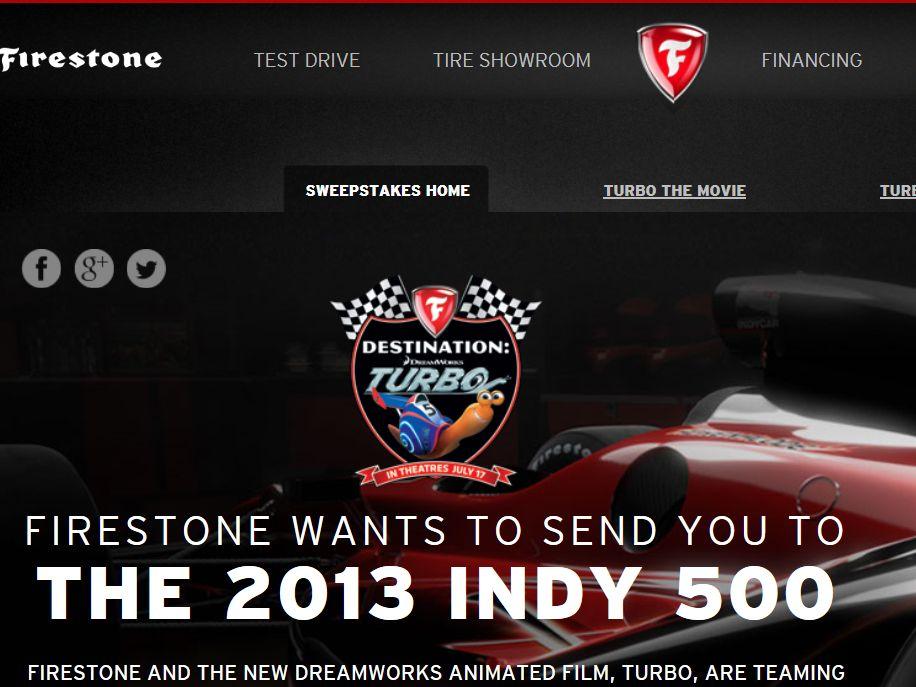 Firestone Destination Turbo Sweepstakes