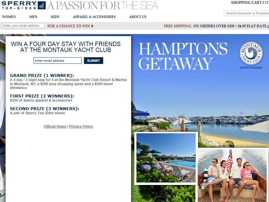Sperry Top-Sider Hamptons Getaway Sweepstakes