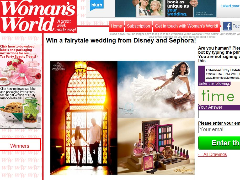 Win a fairytale wedding from Disney and Sephora Sweepstakes